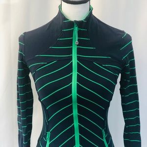 Lululemon navy & green zip up warmup jacket 4